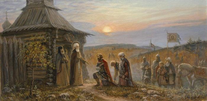 Благословение преподобным Сергием Радонежским князя Димитрия Донского