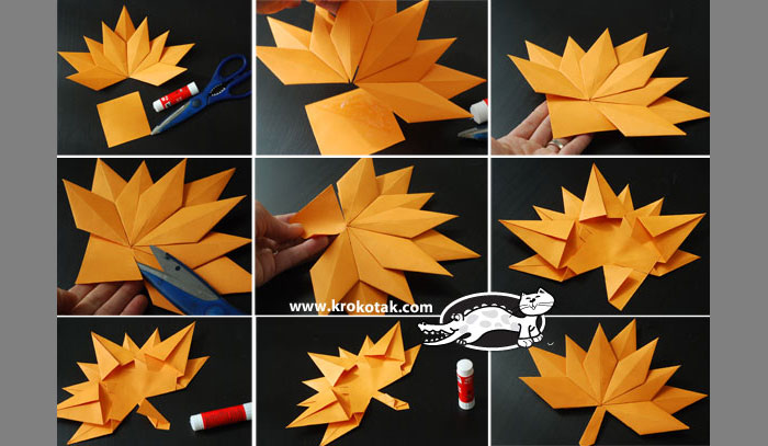 Оригами схемы осени