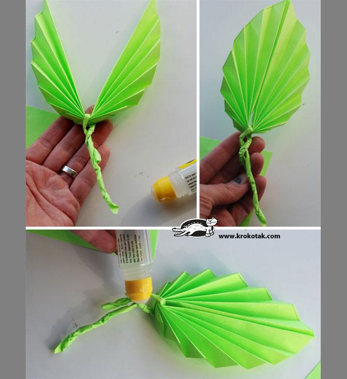 Объёмные листья из бумаги своими руками пошаговая инструкция фото