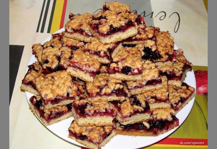 Печенье с вареньем на сковороде