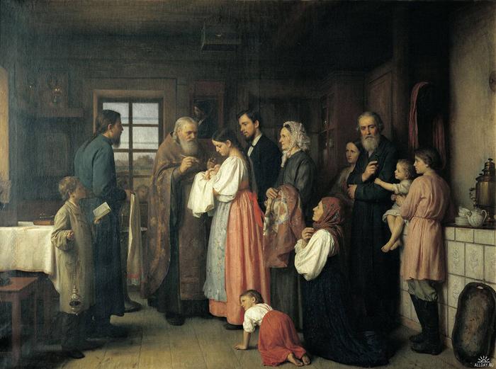 Крещение ребенка на дому