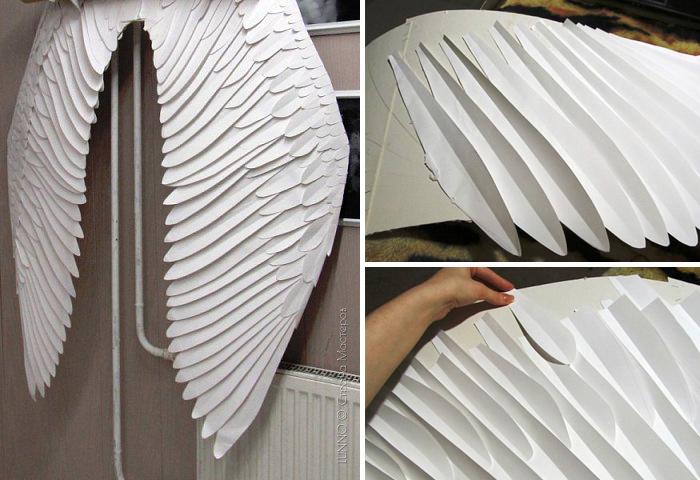 Как сделать из картона крылья для человека