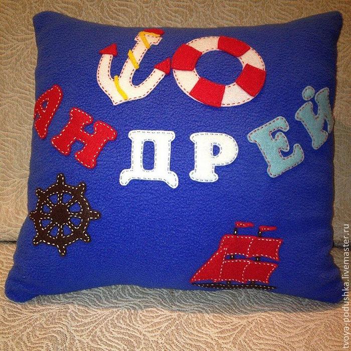 Именные подушки для детей своими руками 28