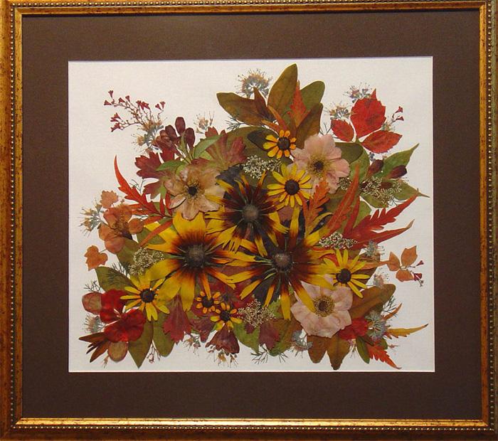 Картины из осенних цветов своими руками 67