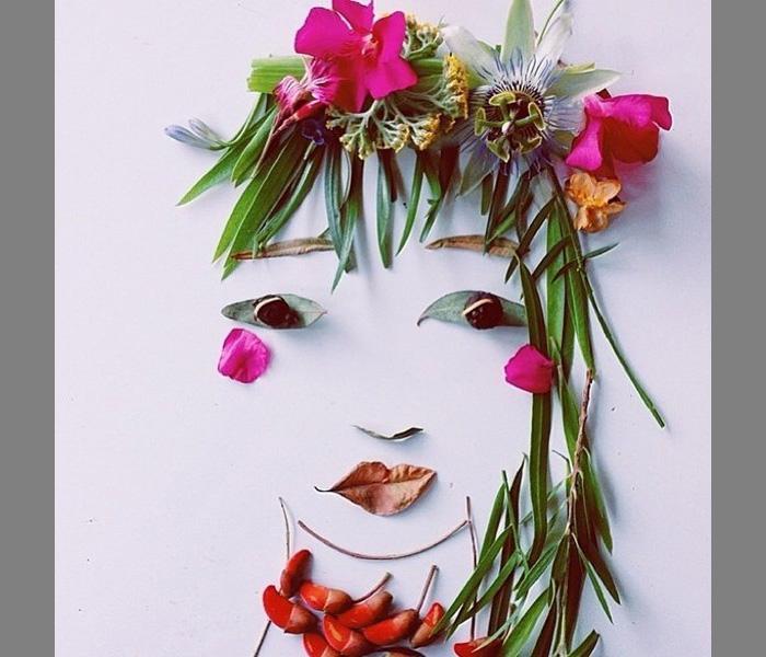 Поделки из цветов и листьев