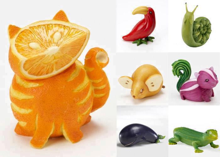 Животные из овощей поделки
