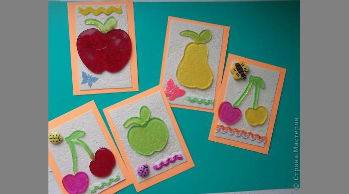 Аппликация из цветной бумаги овощи