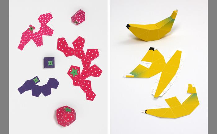 Поделки из бумаги фрукты