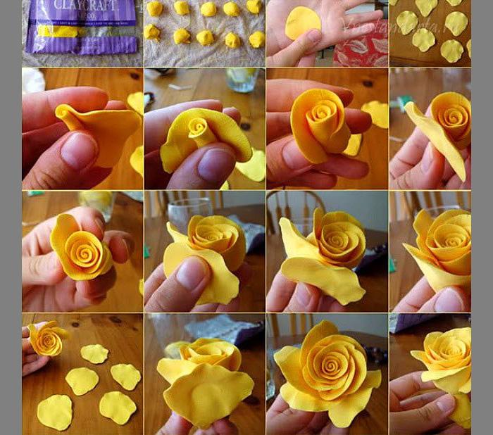 Как сделать цветы из фоамирана  инструкция 143