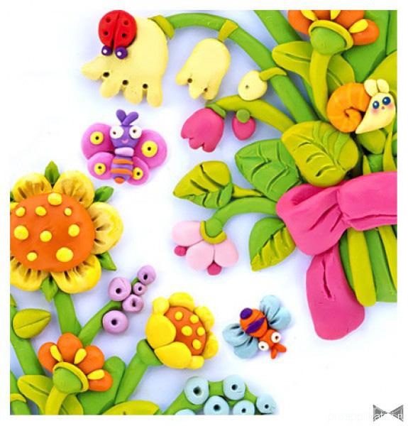 plastilin-10 Букет цветов из пластилина своими руками для детей 5-6 лет