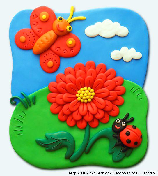 plastilin-12 Букет цветов из пластилина своими руками для детей 5-6 лет