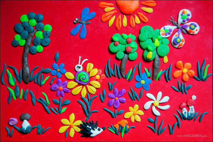 plastilin-14 Букет цветов из пластилина своими руками для детей 5-6 лет