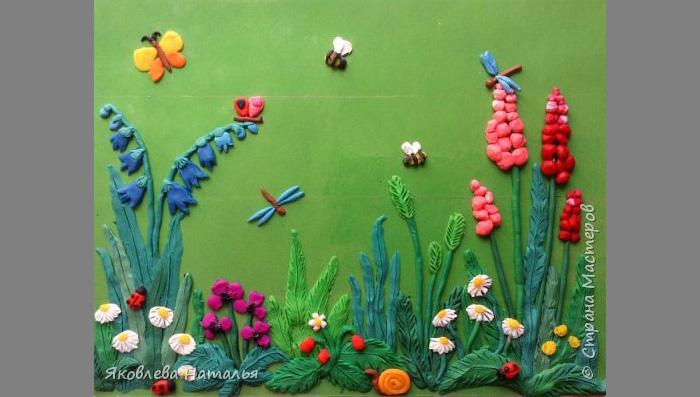 plastilin-17 Букет цветов из пластилина своими руками для детей 5-6 лет