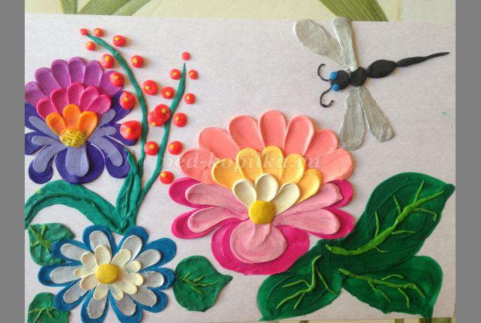 plastilin-18 Букет цветов из пластилина своими руками для детей 5-6 лет