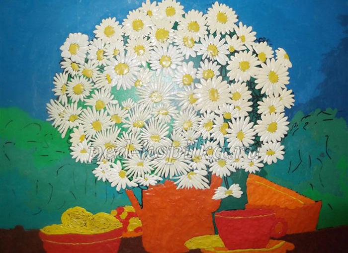 plastilin-19 Букет цветов из пластилина своими руками для детей 5-6 лет