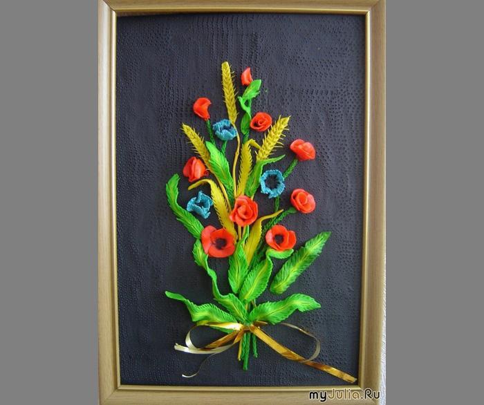 plastilin-2 Букет цветов из пластилина своими руками для детей 5-6 лет