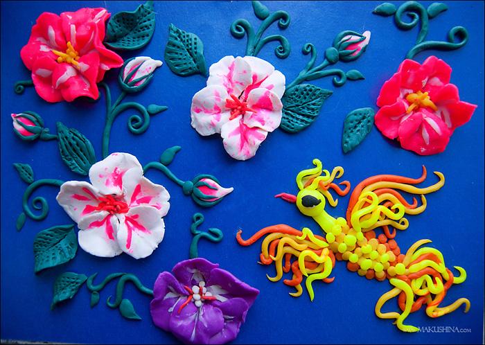 plastilin-20 Букет цветов из пластилина своими руками для детей 5-6 лет