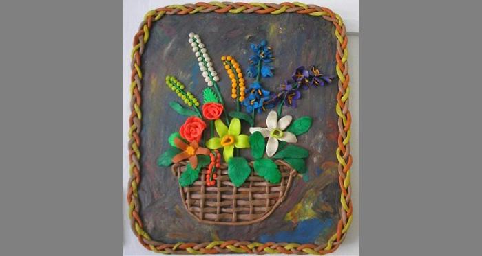 plastilin-21 Букет цветов из пластилина своими руками для детей 5-6 лет