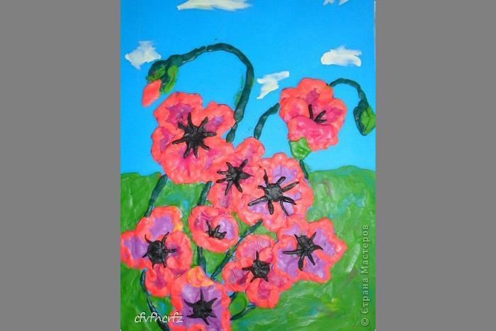 plastilin-7 Букет цветов из пластилина своими руками для детей 5-6 лет