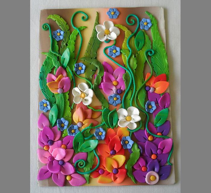 plastilin-8 Букет цветов из пластилина своими руками для детей 5-6 лет