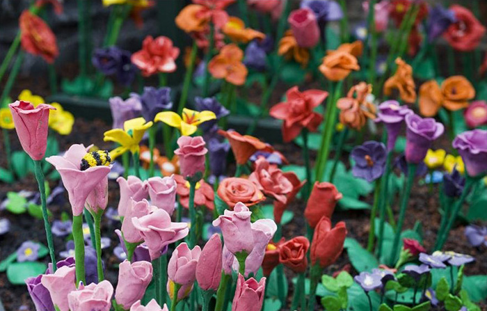 plastilinovy-sad-2 Букет цветов из пластилина своими руками для детей 5-6 лет