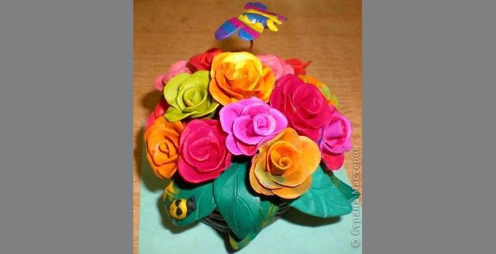 zvety-v-gorshkah-10 Букет цветов из пластилина своими руками для детей 5-6 лет