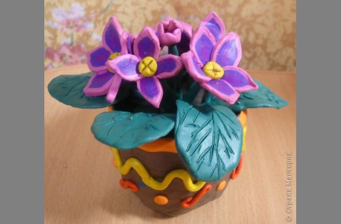 zvety-v-gorshkah-2 Букет цветов из пластилина своими руками для детей 5-6 лет