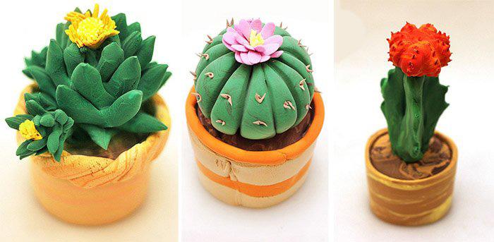zvety-v-gorshkah-6 Букет цветов из пластилина своими руками для детей 5-6 лет