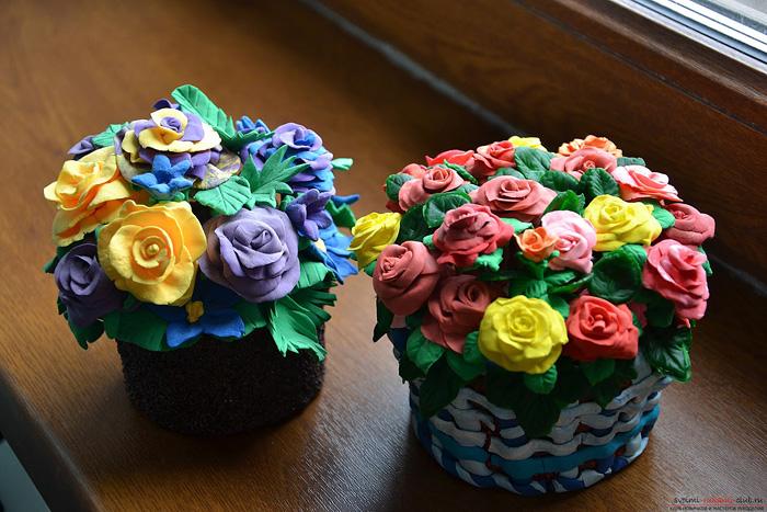 zvety-v-gorshkah-7 Букет цветов из пластилина своими руками для детей 5-6 лет