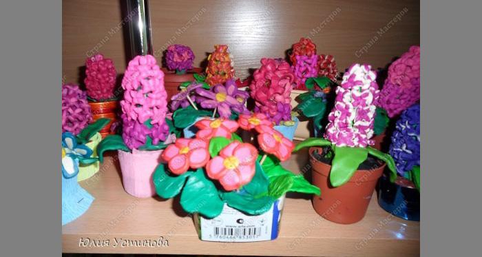 zvety-v-gorshkah-9 Букет цветов из пластилина своими руками для детей 5-6 лет