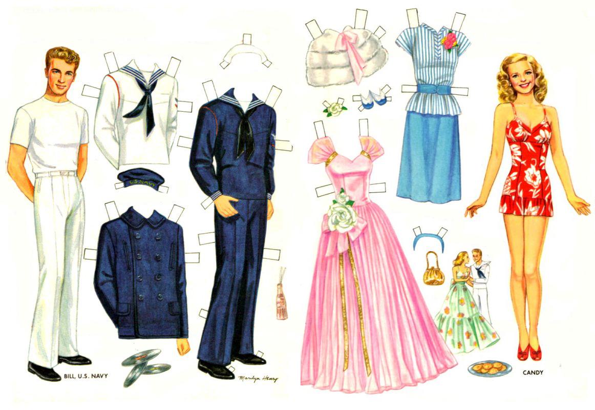 Бумажная кукла и одежда своими руками