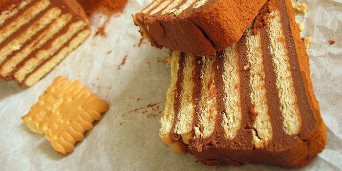 Торт из печенья со сгущенкой рецепт с фото пошагово в домашних условиях