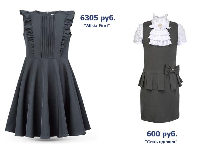 ba7189fe137 Сарафан - один из самых практичных вариантов школьной формы для девочек.  Цены отличаются более чем в десять раз - от 600 руб.
