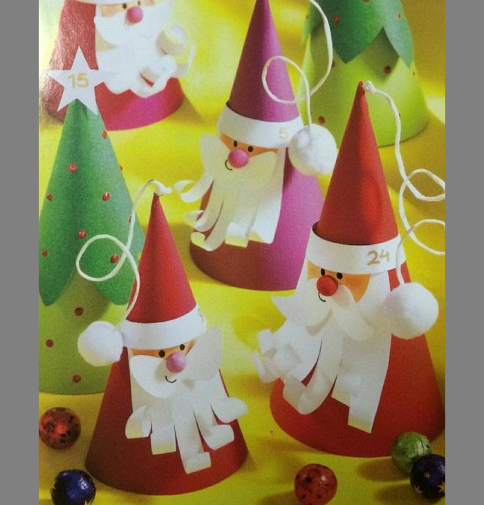 Дед мороз поделки из картона 64