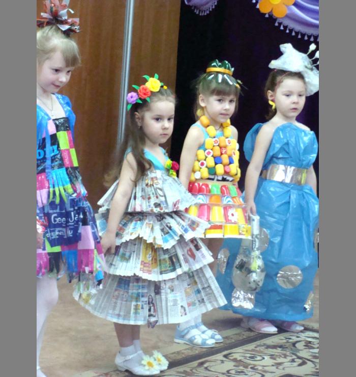 Карнавальные костюмы  из бумаги 175