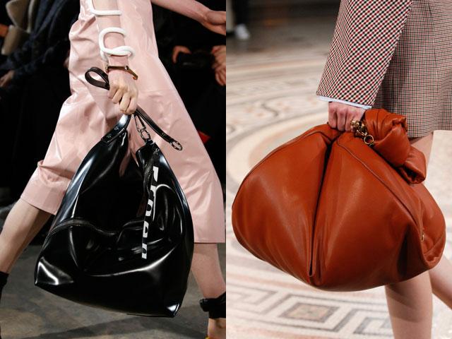159b23da7ac2 Модные сумки 2018 года. Разновидность огромной женской сумки – мешок –  совершенный «писк моды». Это вовсе не принадлежность бомжа, а ультрамодный  аксессуар.