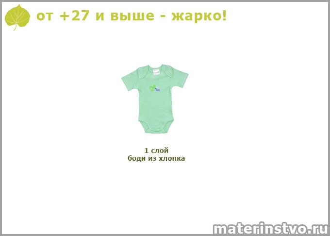Как одеть новорожденного при +28 градусах
