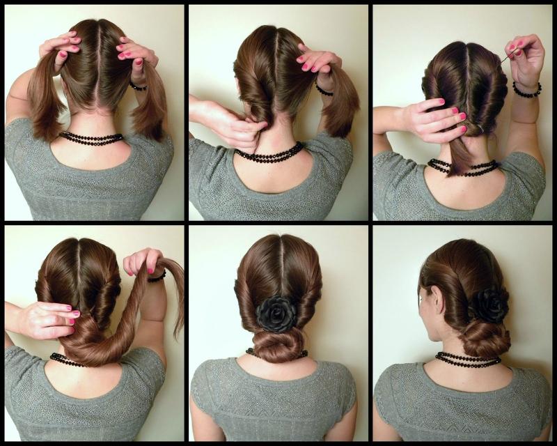 Шишки на длинные волосы своими руками 17