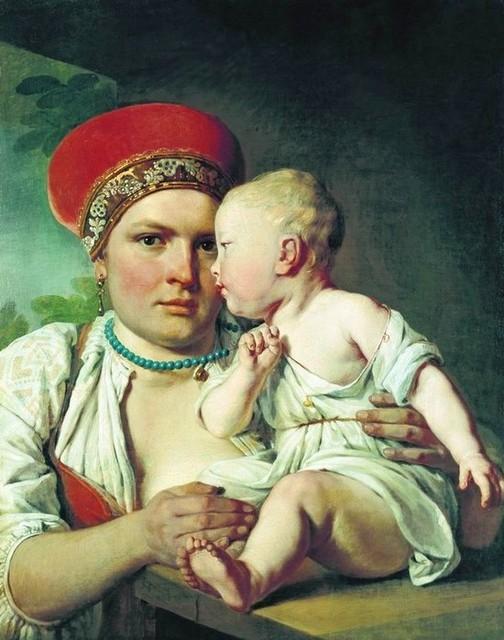Алексей Венецианов Кормилица с ребенком