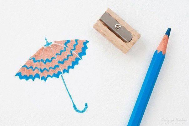Как сделпть фор от крошек карандашей