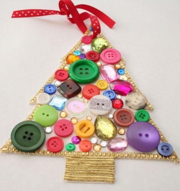 Поделки из пуговиц своими руками для детского сада на новый год