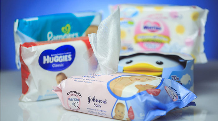 Влажные салфетки Pampers, Huggies, GOO.N, Merries и Johnson