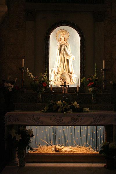 Мадонна и Младенец в католическом соборе Рождества