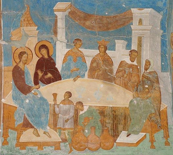 Фреска Дионисия в соборе Рождества Богородицы Ферапонтова монастыря