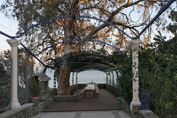 Сад монастыря Двенадцати Апостолов на берегу Тивериадского озера