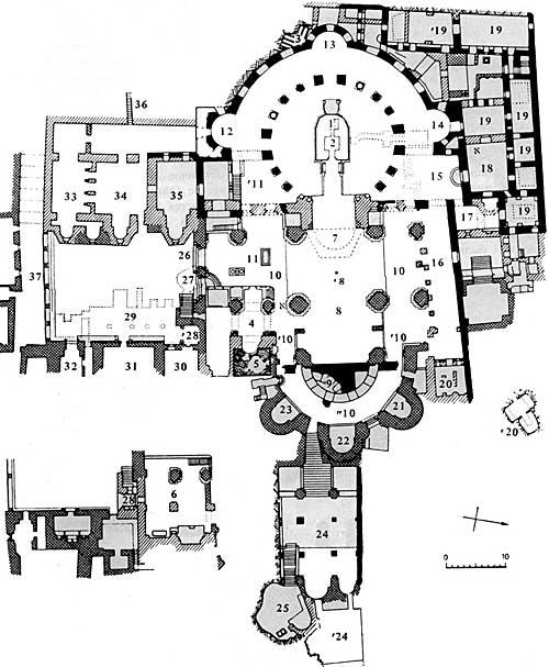 План храма Гроба Господня в