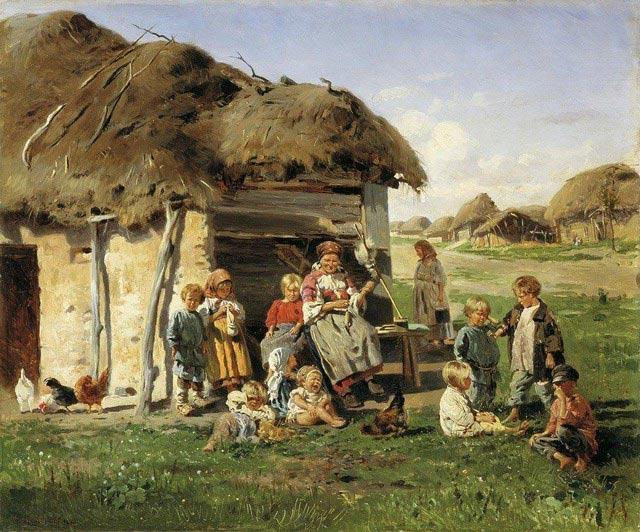 Маковский В.Е. Крестьянские дети