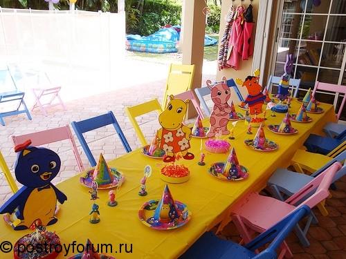 День рождения для детей на природе 70